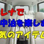 セレナe-POWERで車中泊を楽しもう!人気のアイテム紹介